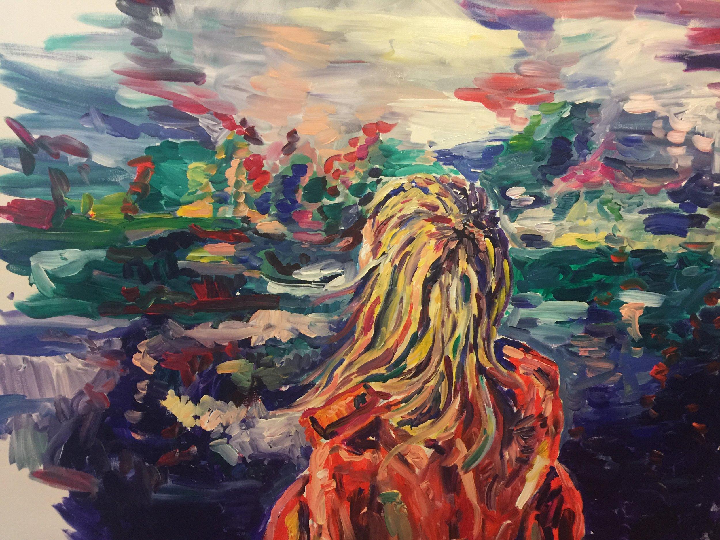 Kelowna  Acrylic on muslin 2017