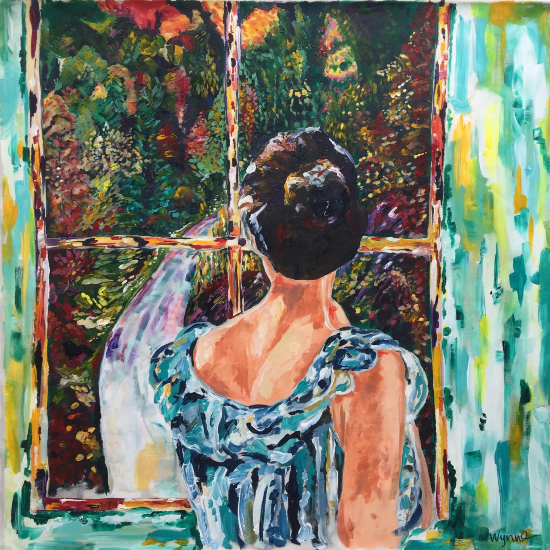 """Aisha  Acrylic on canvas, 36"""" x 36"""" 2016"""