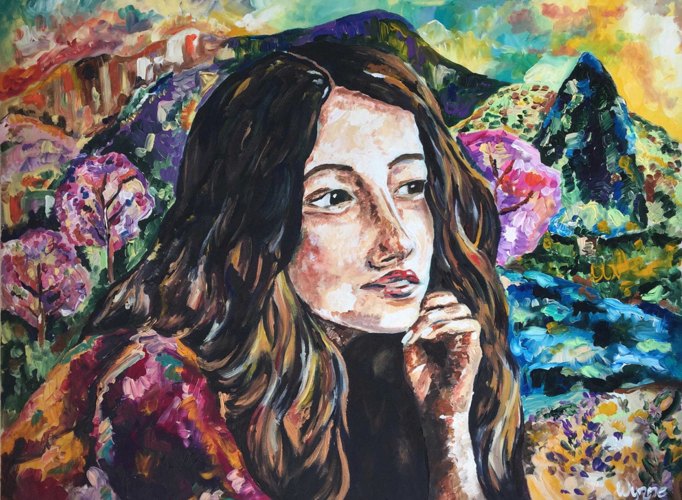 """Saison  Acrylic on canvas, 40"""" x 30"""" 2016"""