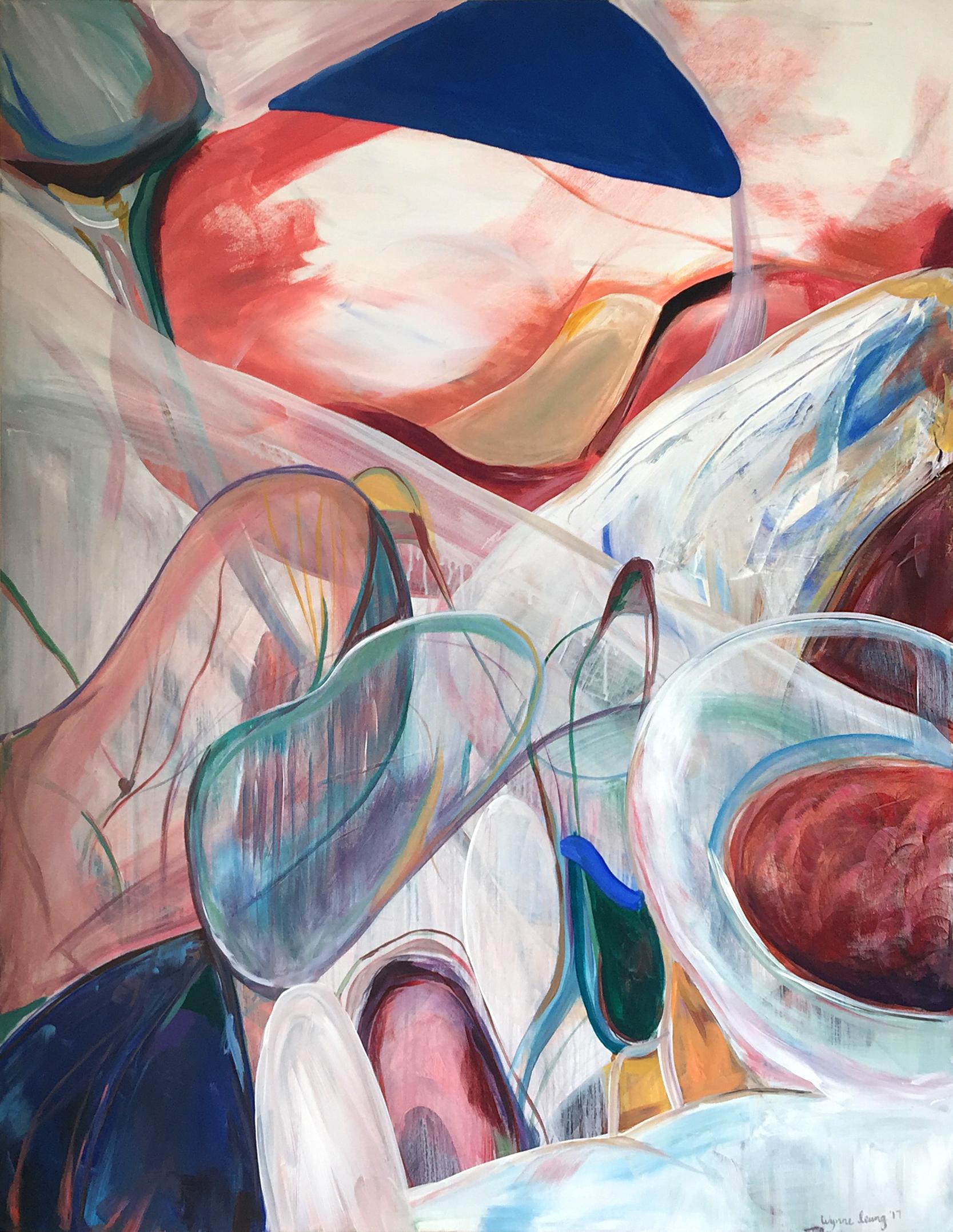 "The Sky Witness  Acrylic on canvas, 36"" x 48"" 2017"