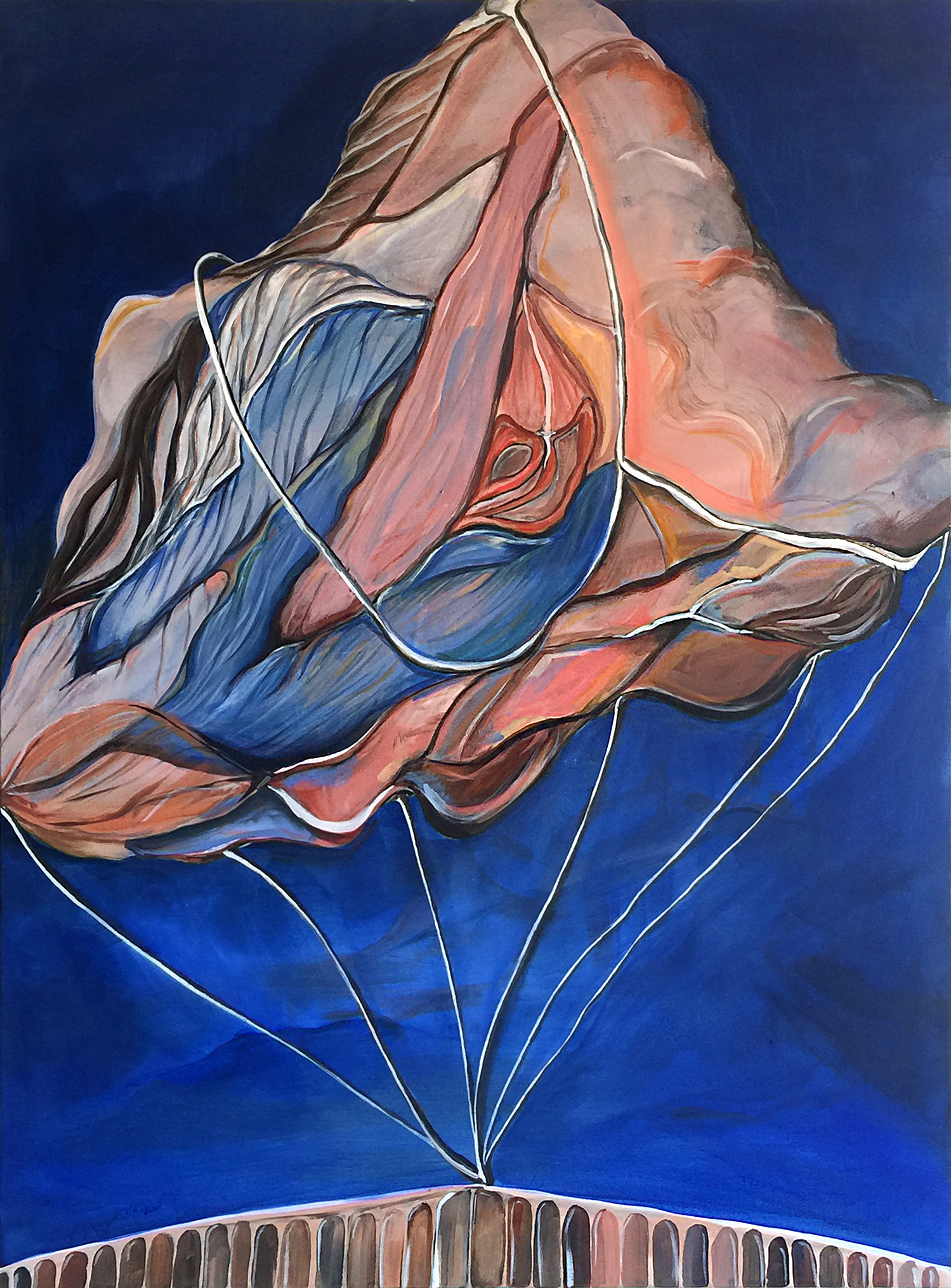 "Extraordinary Boundaries  Acrylic on canvas, 30"" x 40"" 2017"