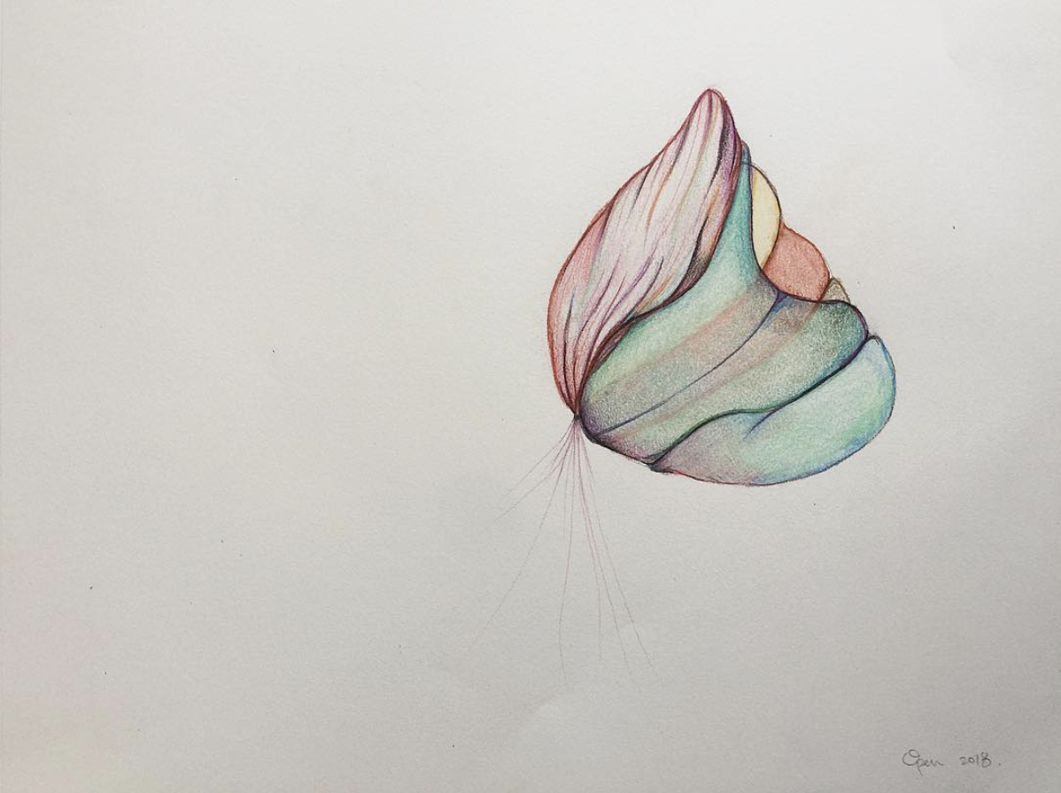 "Days Of Our Lives  Colored Pencil on paper, 14"" x 11"" 2018"