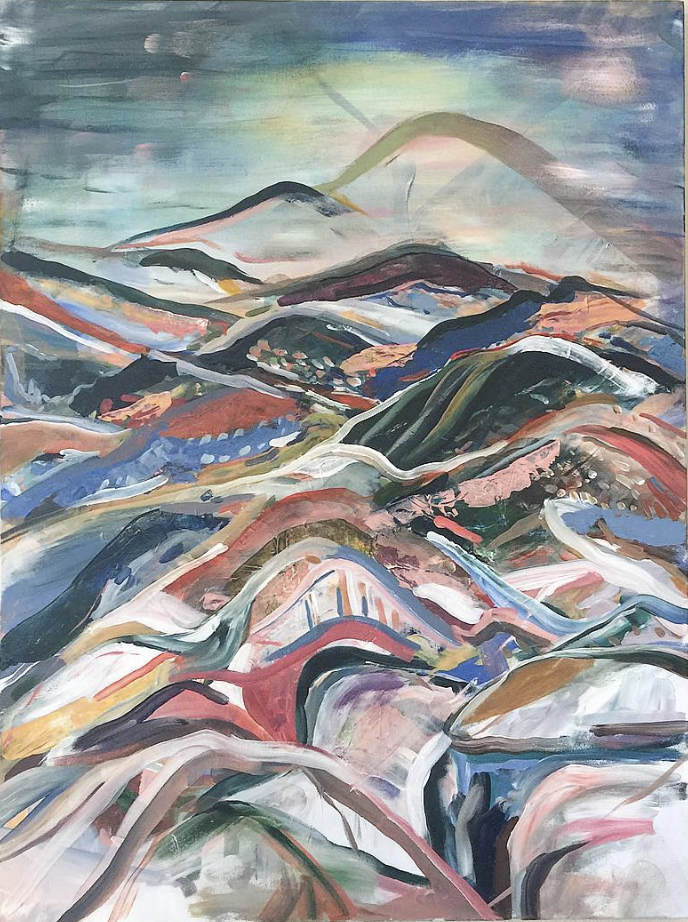 """The View From 8F  Acrylic on Canvas, 30"""" x 40"""" 2018"""