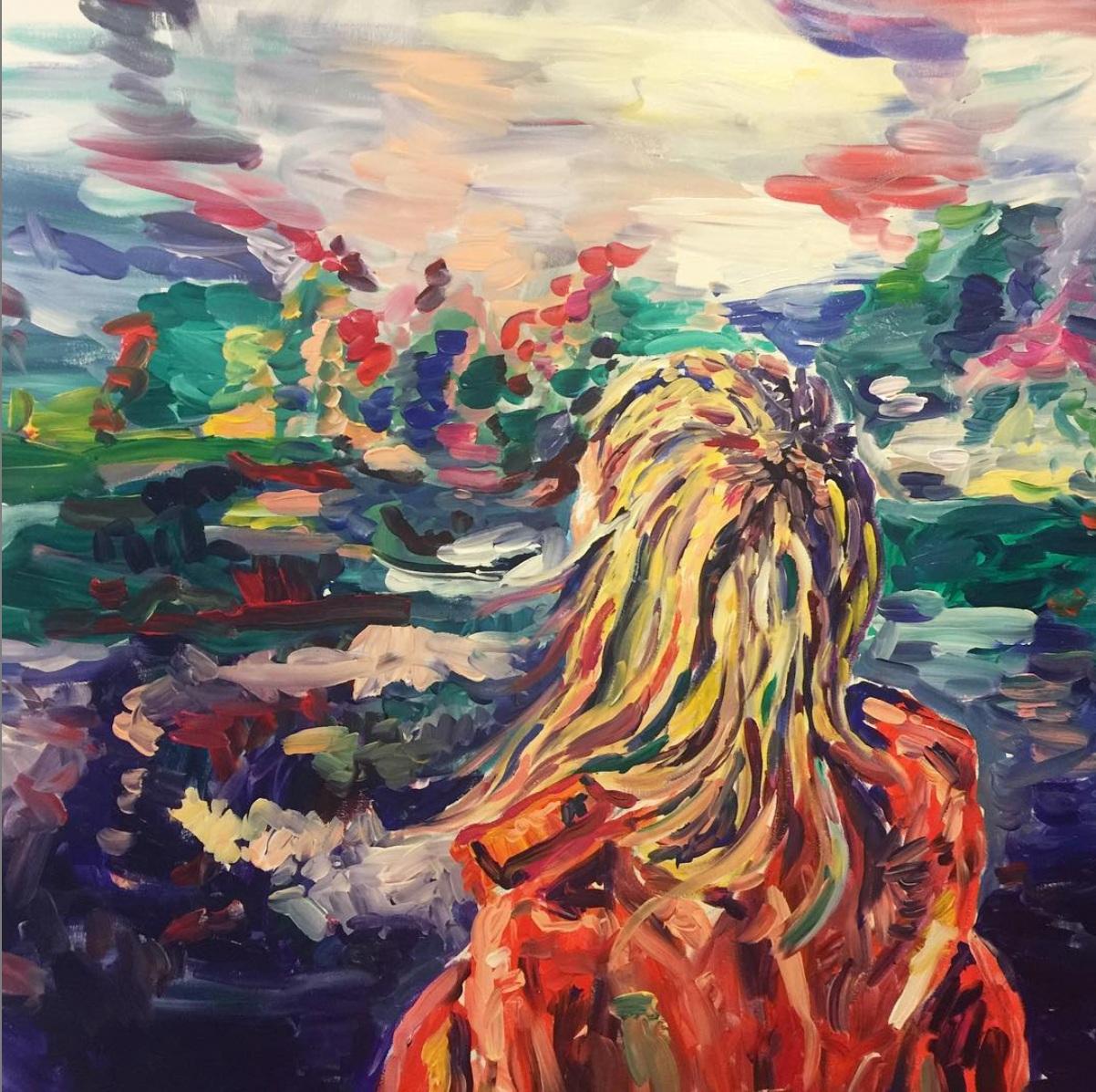 """Kelowna  48"""" x 30"""" Acrylic on canvas 2016"""