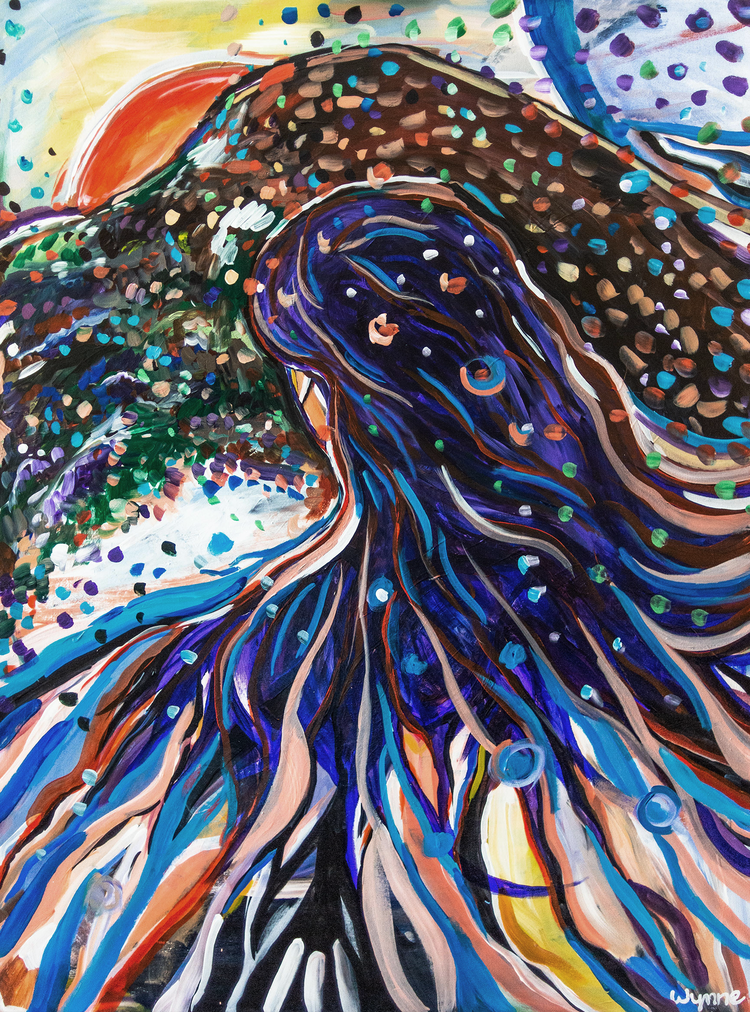 """Homecoming  Acrylic on Muslin, 30"""" x 40"""" 2019"""
