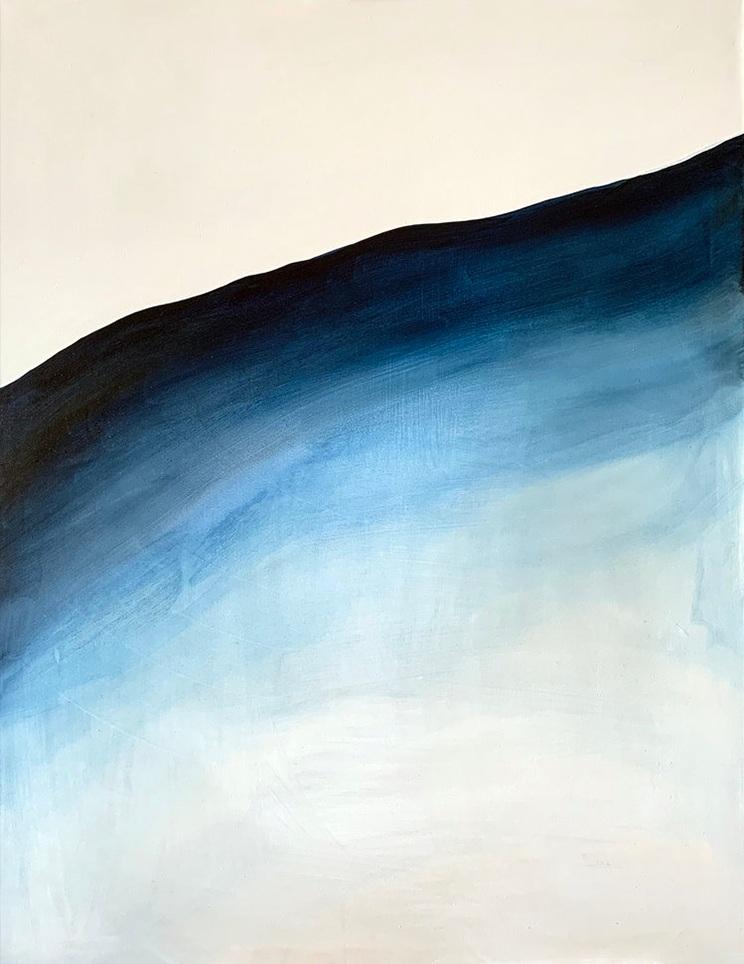 "Bare  Acrylic on Muslin, 40"" x 30"" 2019"