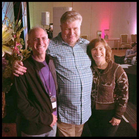 Con Alan Davidson - Con mi esposo Stefan y mi amigo Alan Davidson,gurú de marketing