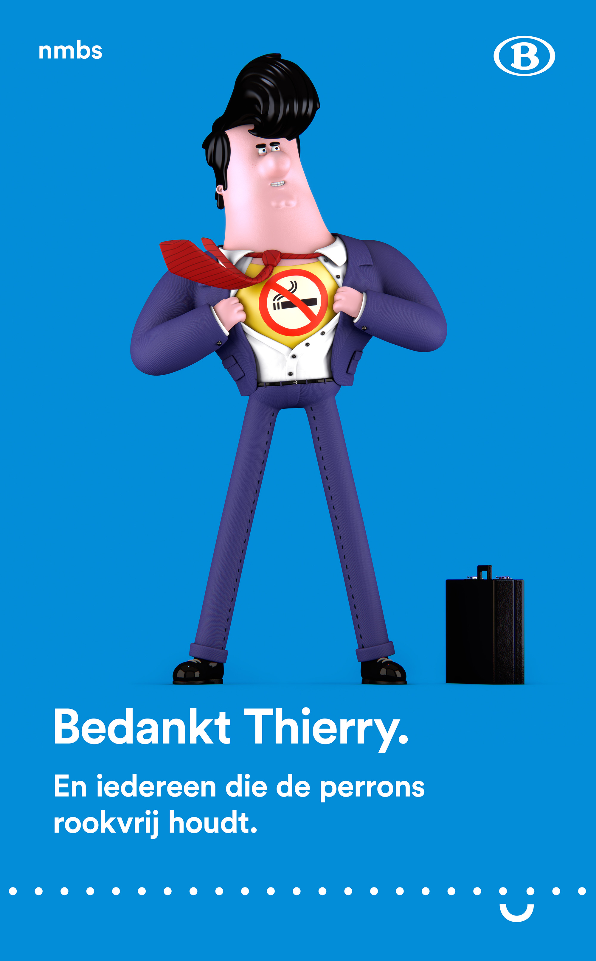 """""""Thanks Thierry. And everyone who keeps the train platforms smokefree."""""""