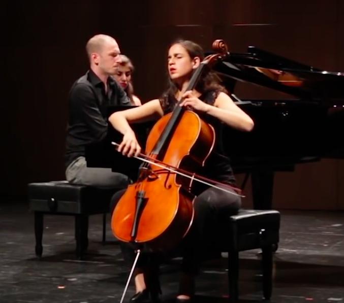 At prizewinners concert, with Caspar Vos