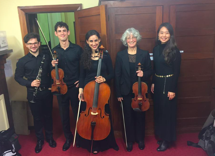 Backstage after our second performance, at the International Viola Congress in Wellington
