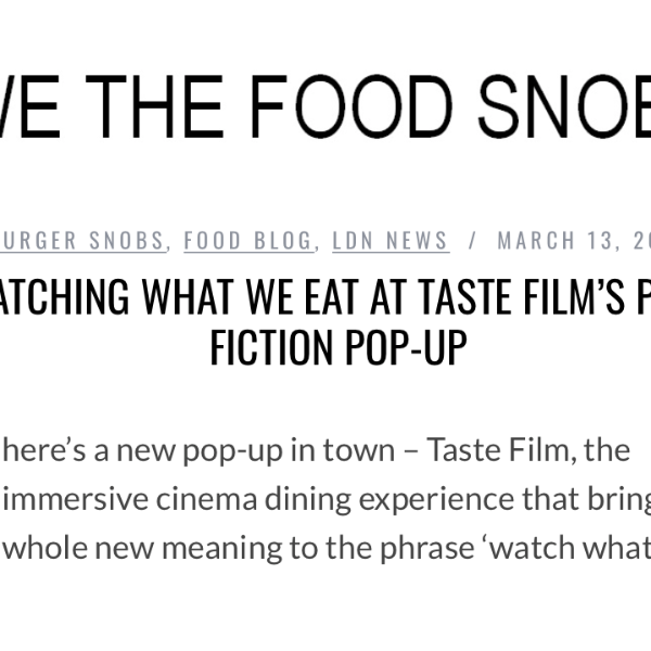 We The Food Snobs