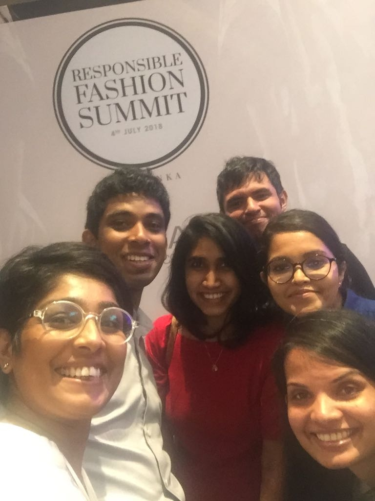 A candid moment with my peers at the summit. (in the picture: Vikum Rajapaksha from Kantala, Naushad Ninzer from DODO, Selyna Peiris from Selyn, Dhanushka Wickramaratne from Cane Couture and Shivani Patel.