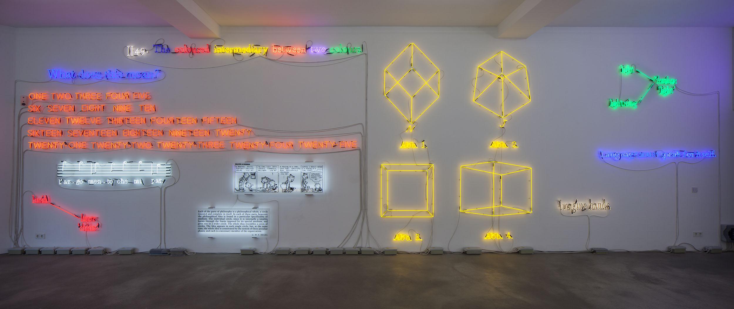 Joseph Kosuth, Insomnia: assorted, illuminated, fixed, Sprüth Magers Berlin, 2013