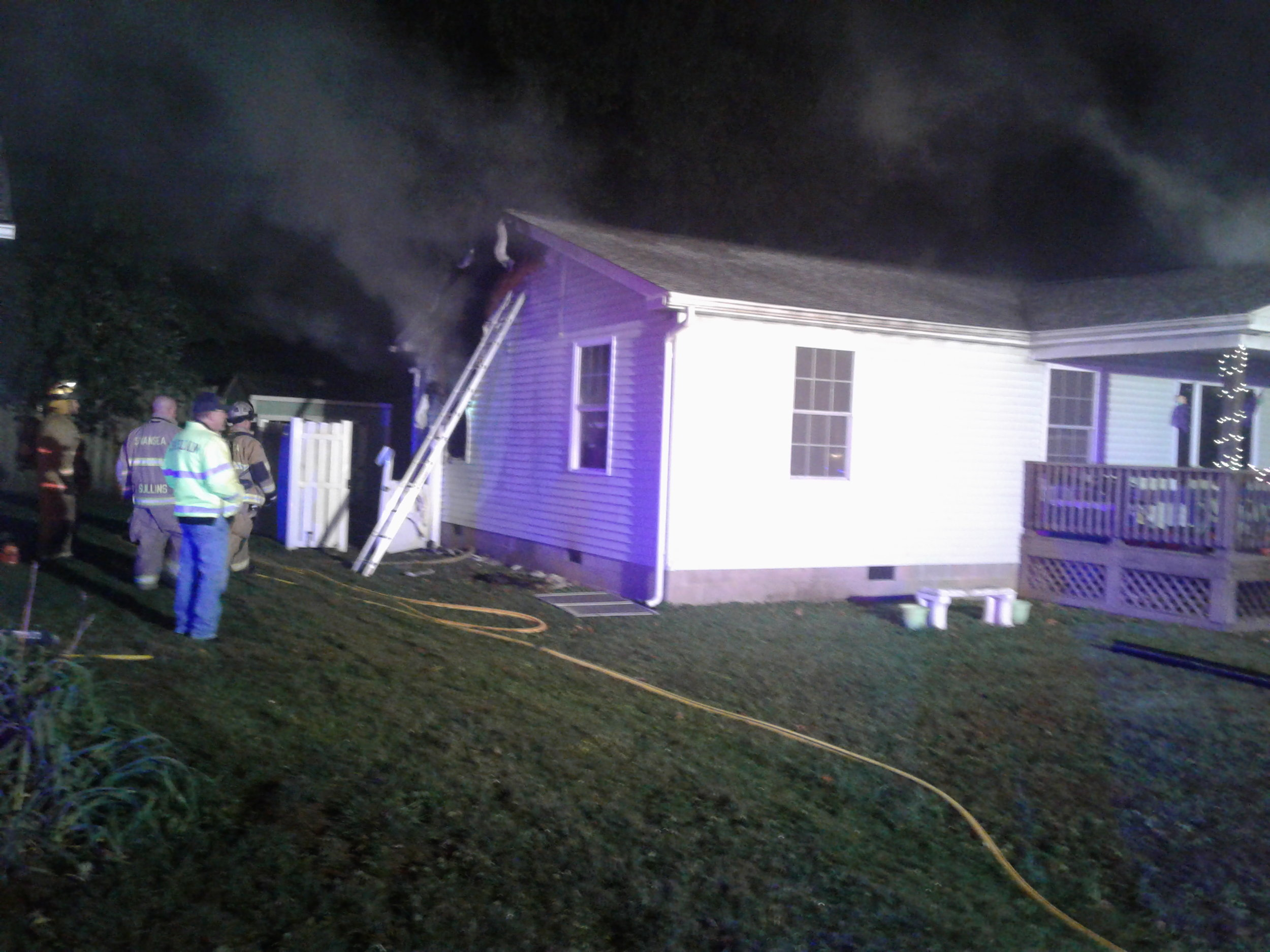 On October 20, 2018, East Side Fire with mutual aid from Swansea Fire Department responded for a residential structure fire. Firefighters found heavy fire conditions on arrival. The fire was quickly brought under control.