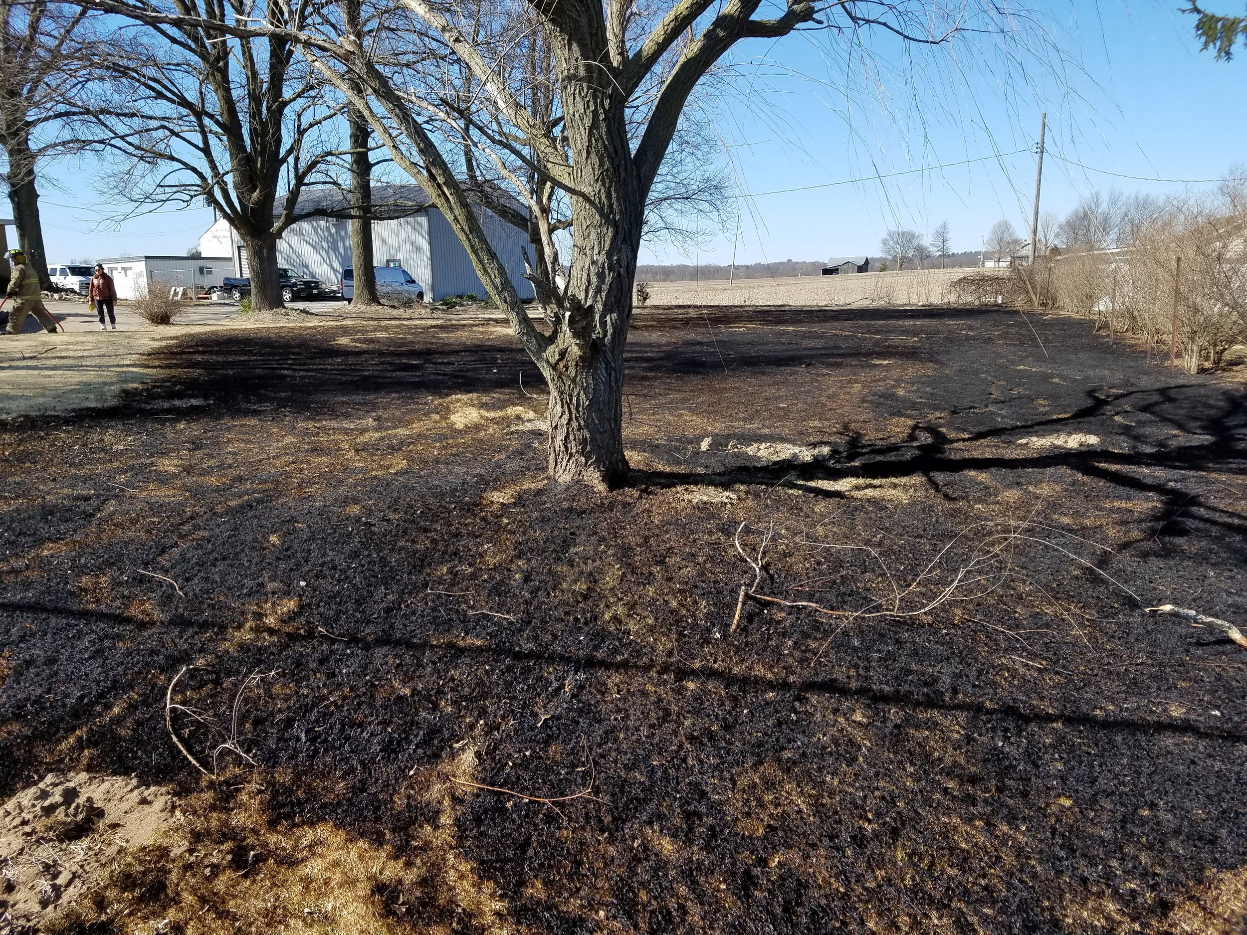 On 03/16/19, East Side Firefighters responded for a brush fire. The fire was mostly extinguished by a group of citizens driving by. The fire was started by a resident burning yard waste on a windy day.