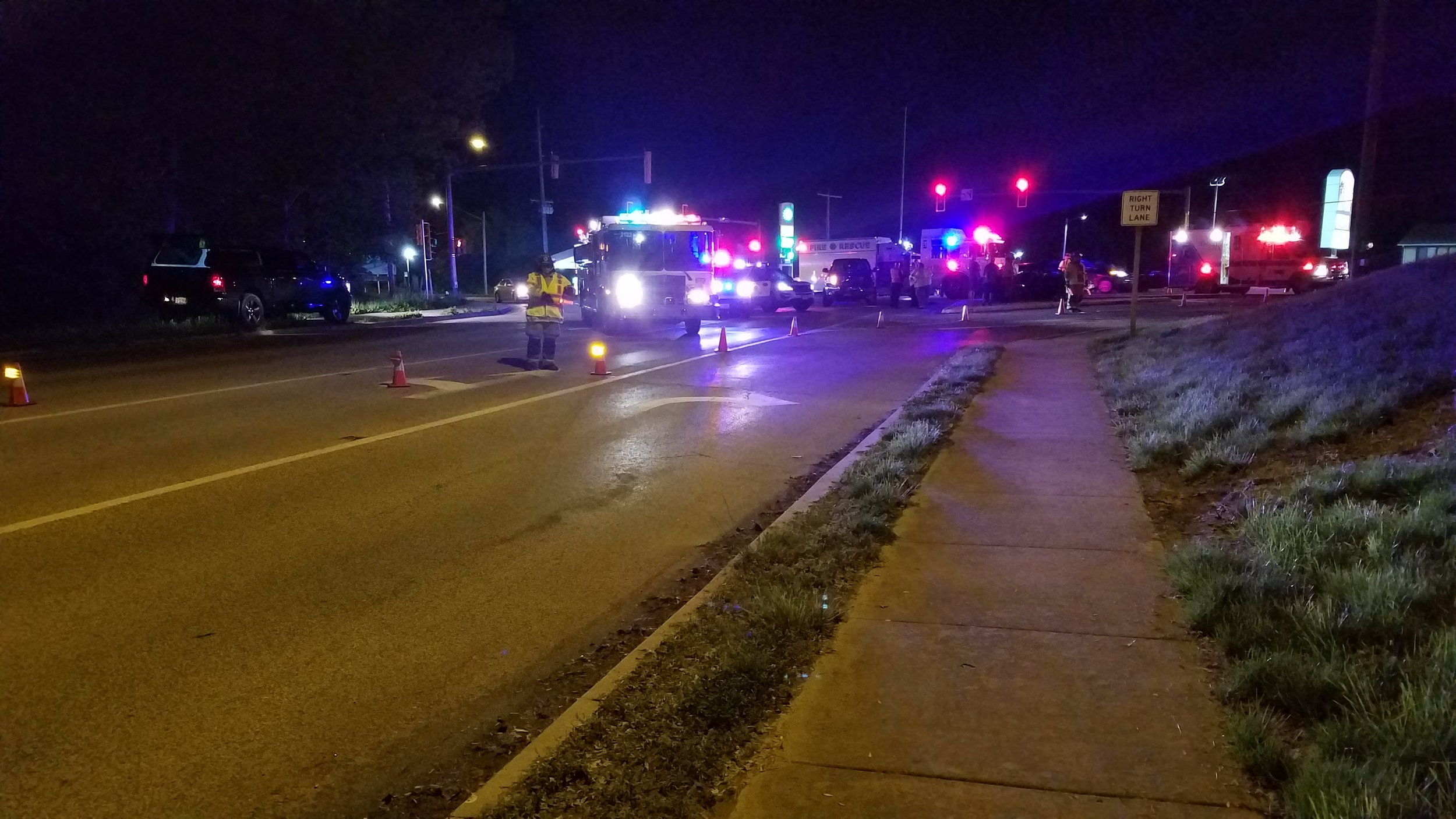 On 05/06/2019, East Side Fire responded for a vehicle accident with injuries. Firefighters assisted with traffic control until Illinois State Police completed their accident investigation.