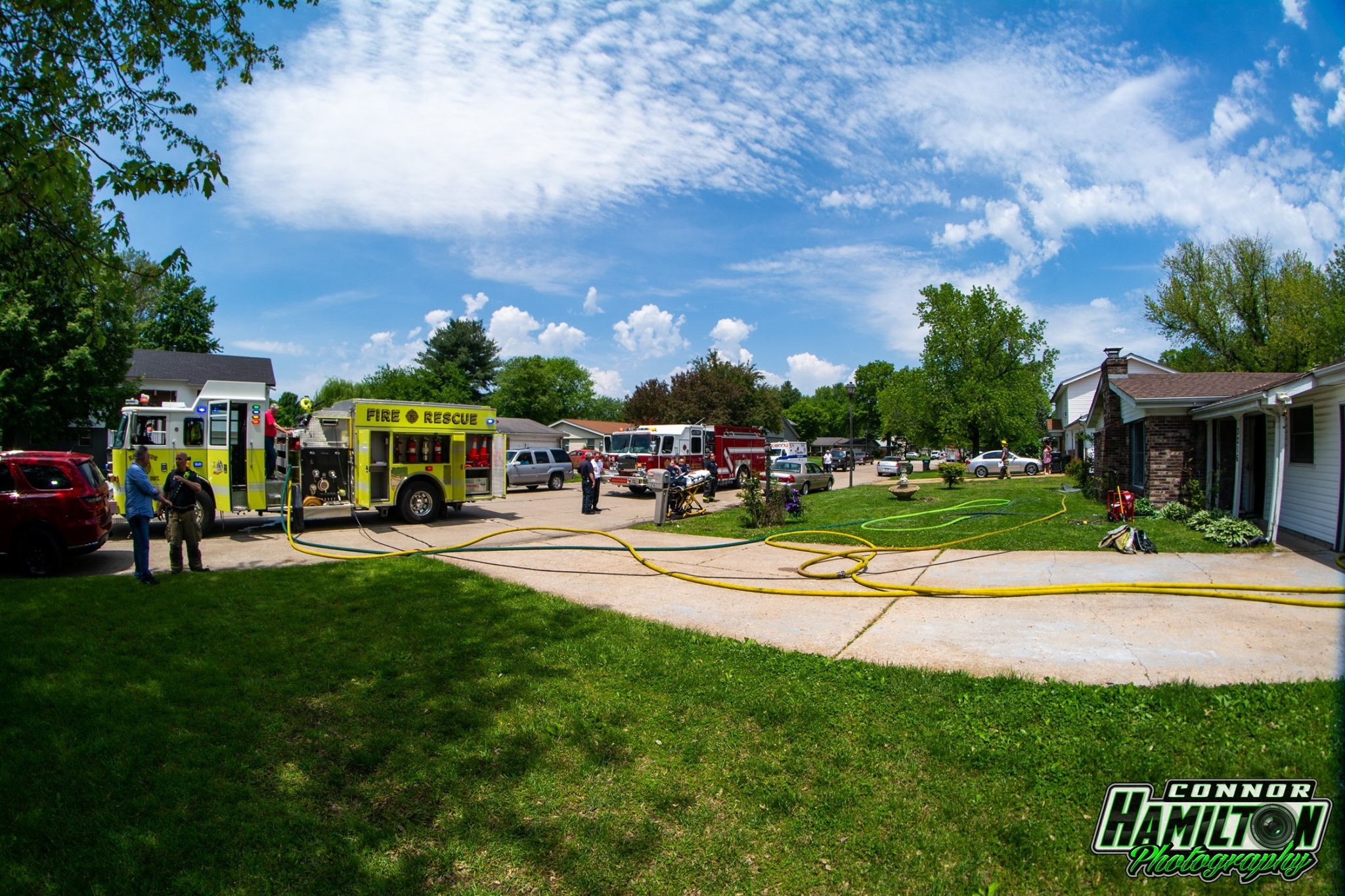 On 05/16/2019, East Side Firefighters responded for a residential structure fire. Mutual aid was received from Belleville and Swansea Fire Departments. Quick action by the first arriving companies prevented the fire from breaching the attic.