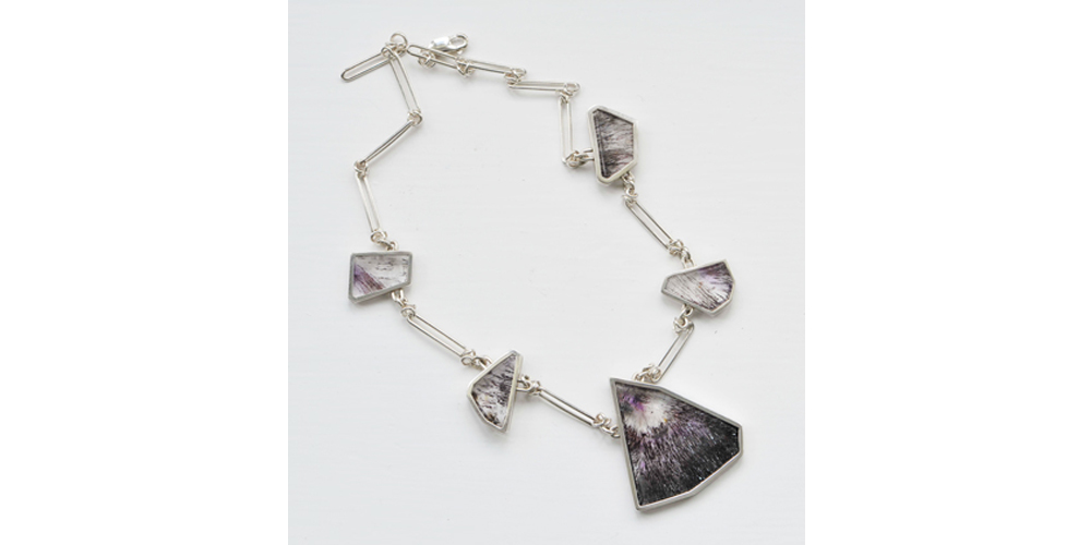 Amethyst with Hematite and Silver Necklace