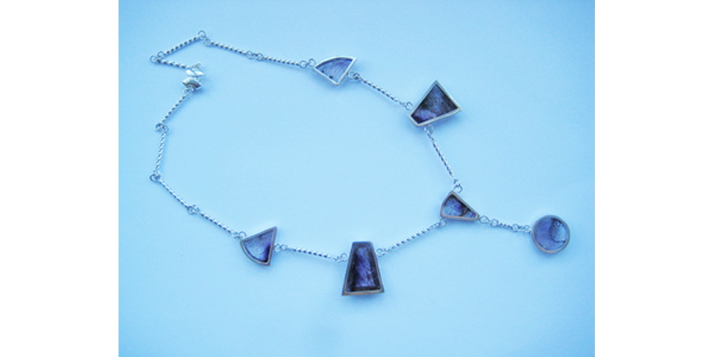 Amethyst with Hematite and Silver Necklace 2