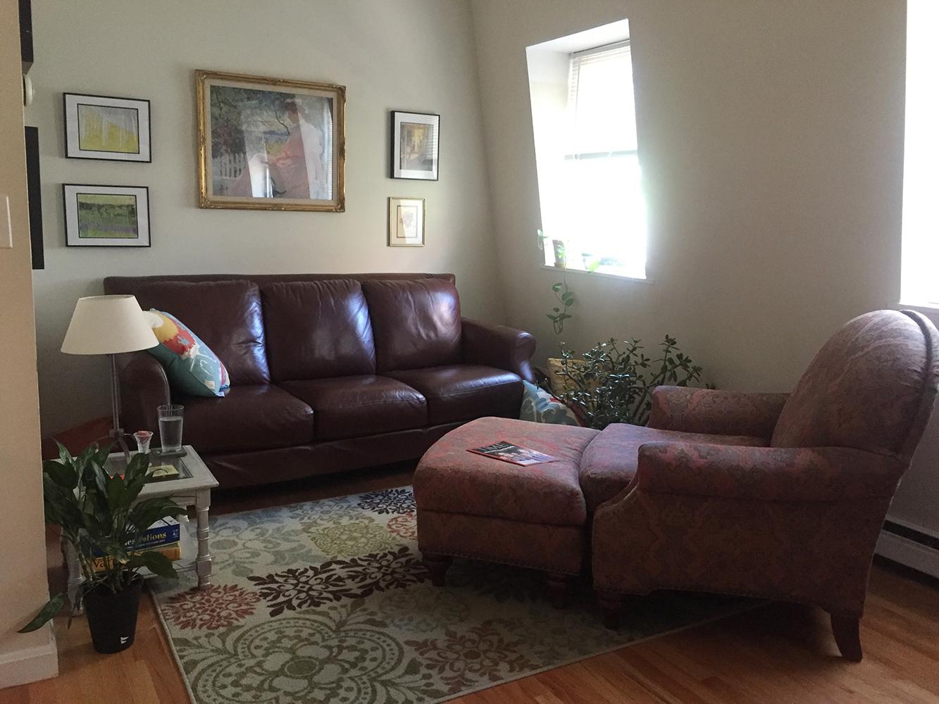 Rosemary's Petite Living Room: Before