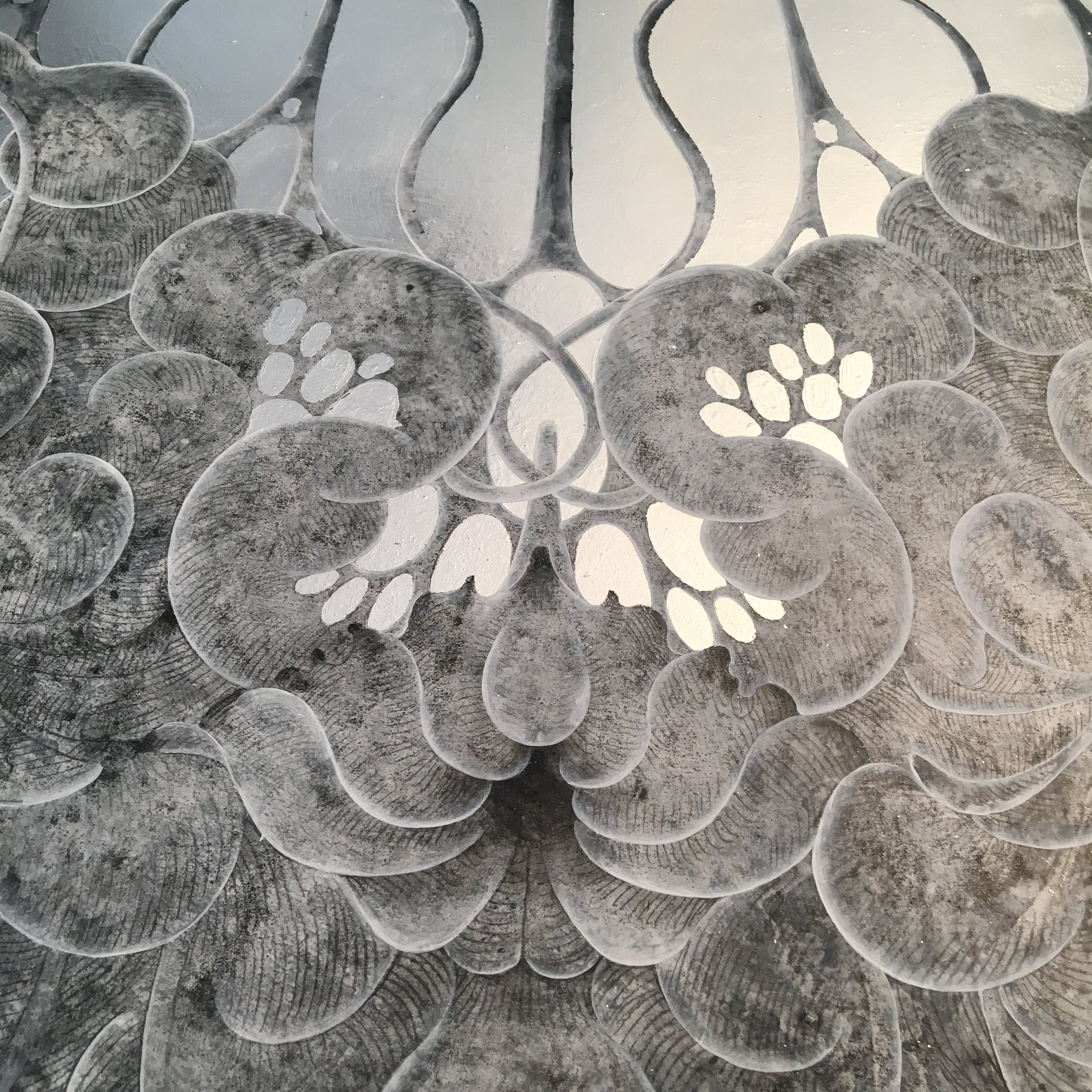Detail of a work in progress by Carol Prusa.