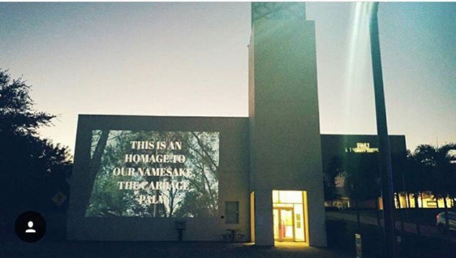 Our digital #zine was projected last night at the @universitygalleries_fau during the opening of #floridadreaming ! The printed version will launch at @spfftl a week from today! Check it out! 🌴📖