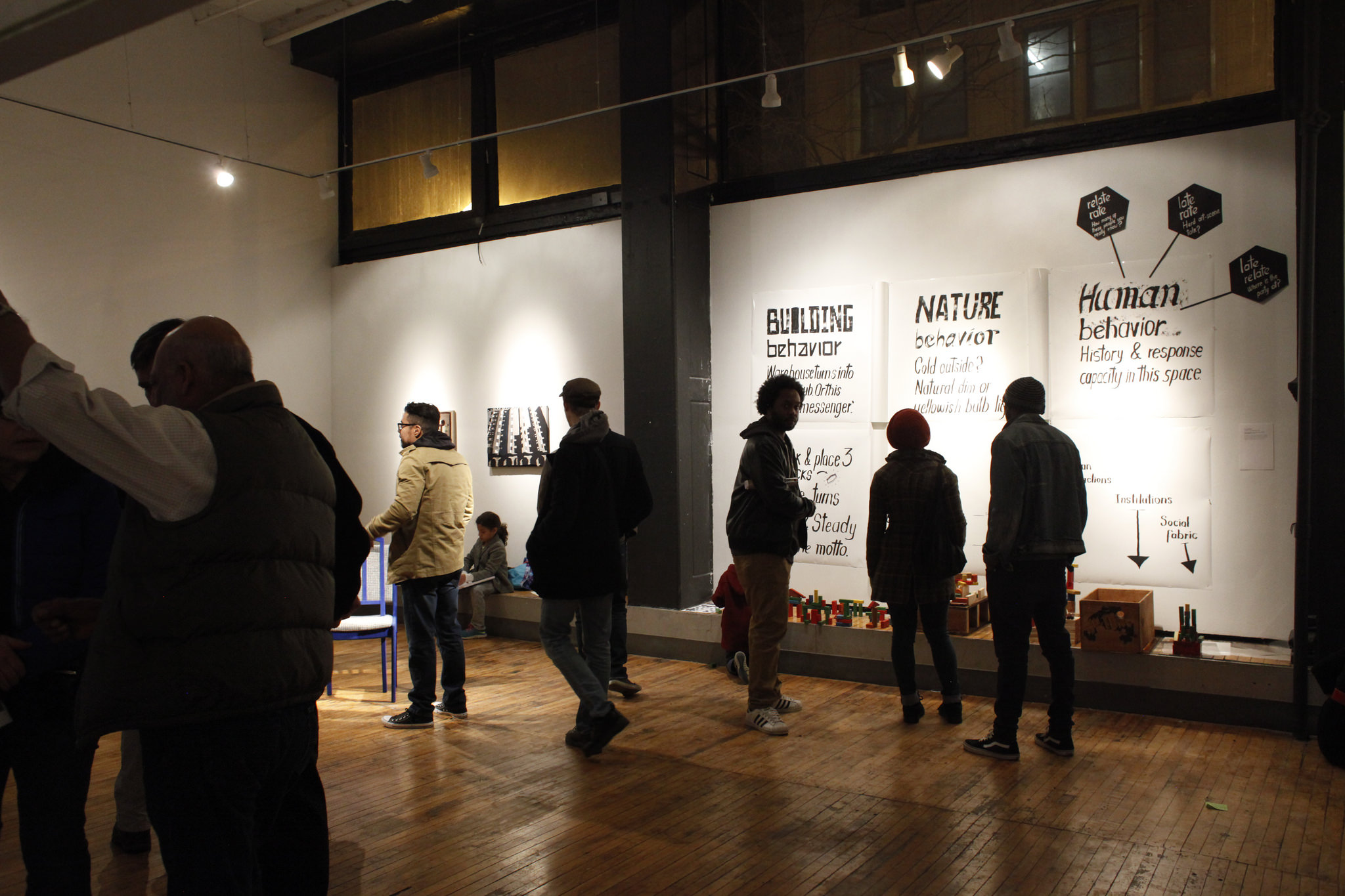 """A view of the """"Surprise In The Process"""" exhibition of artists from the Center Program at Hyde Park Art Center."""