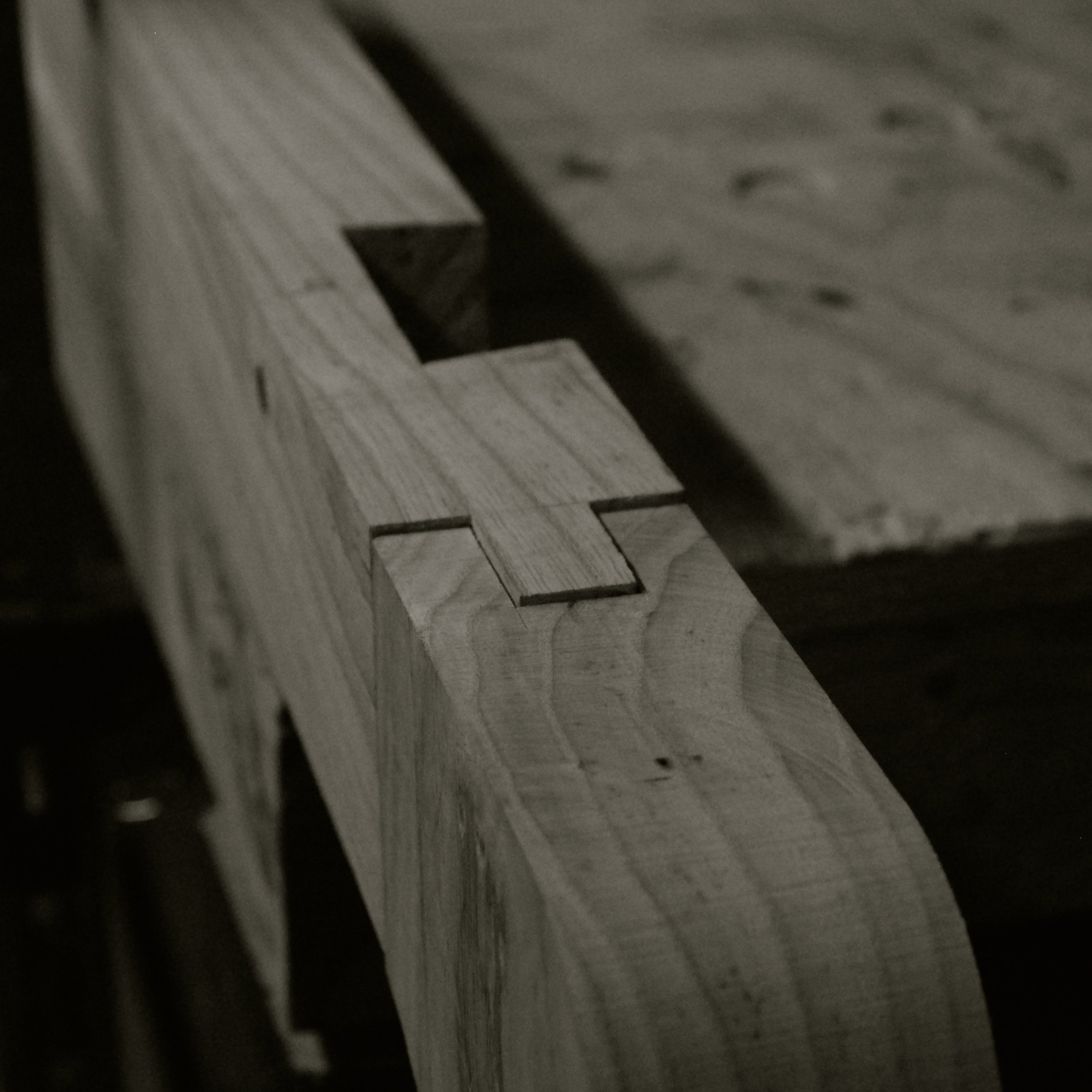 Haunched mortice and tenon joint for a bespoke dining table