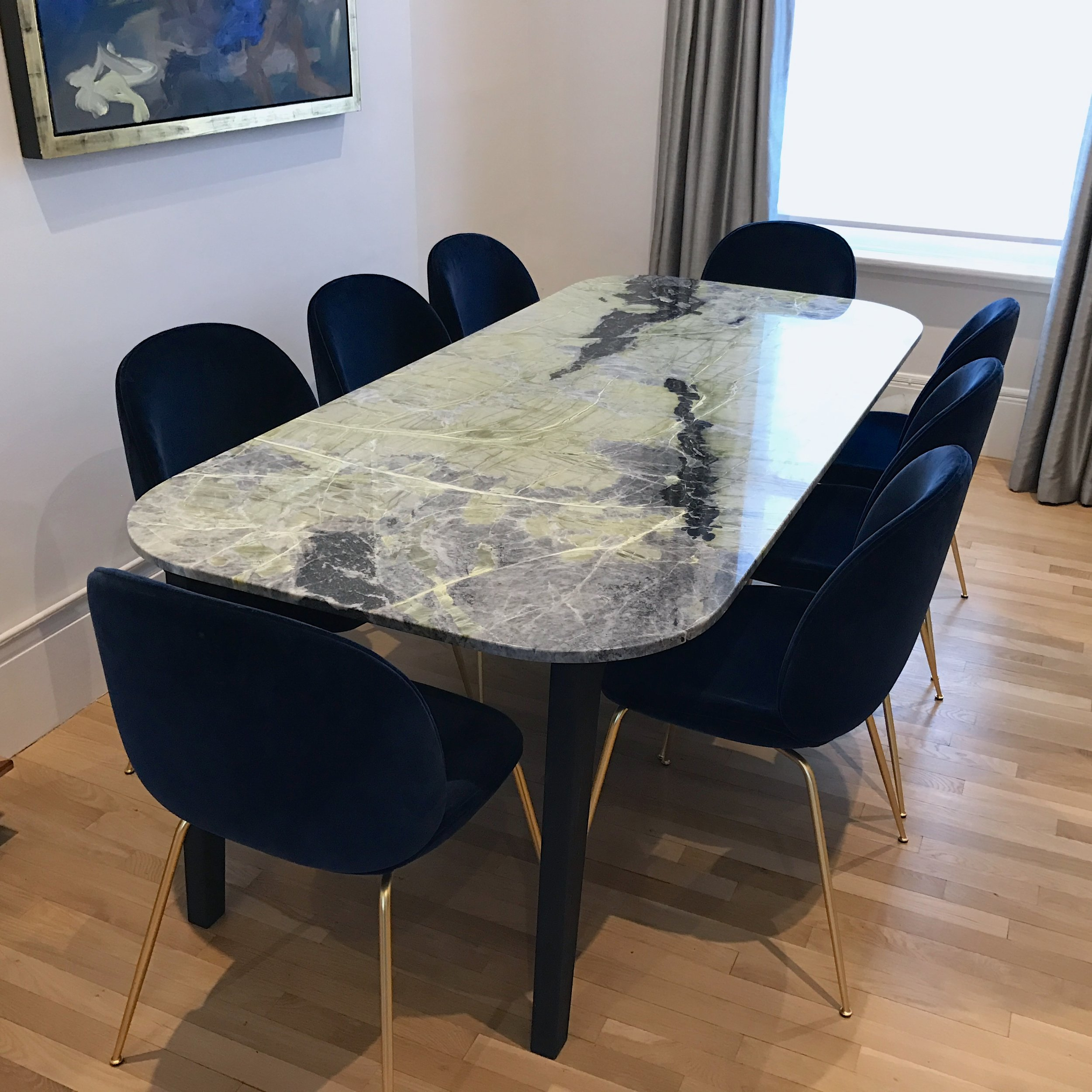 bespoke ledmore marble dining table