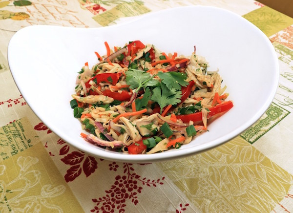 Thai Inspired Cabbage Slaw with Chicken