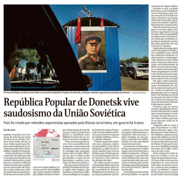 Em república rebelde no Leste da Ucrânia, Stalin, Marx e Lenin voltam a ser herois