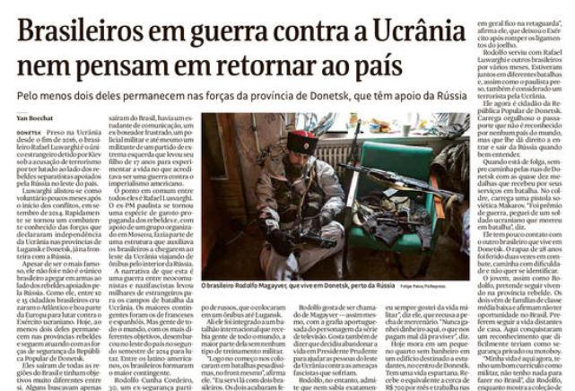 Brasileiros continuam lutando em guerra separatista no Leste da Ucrânia