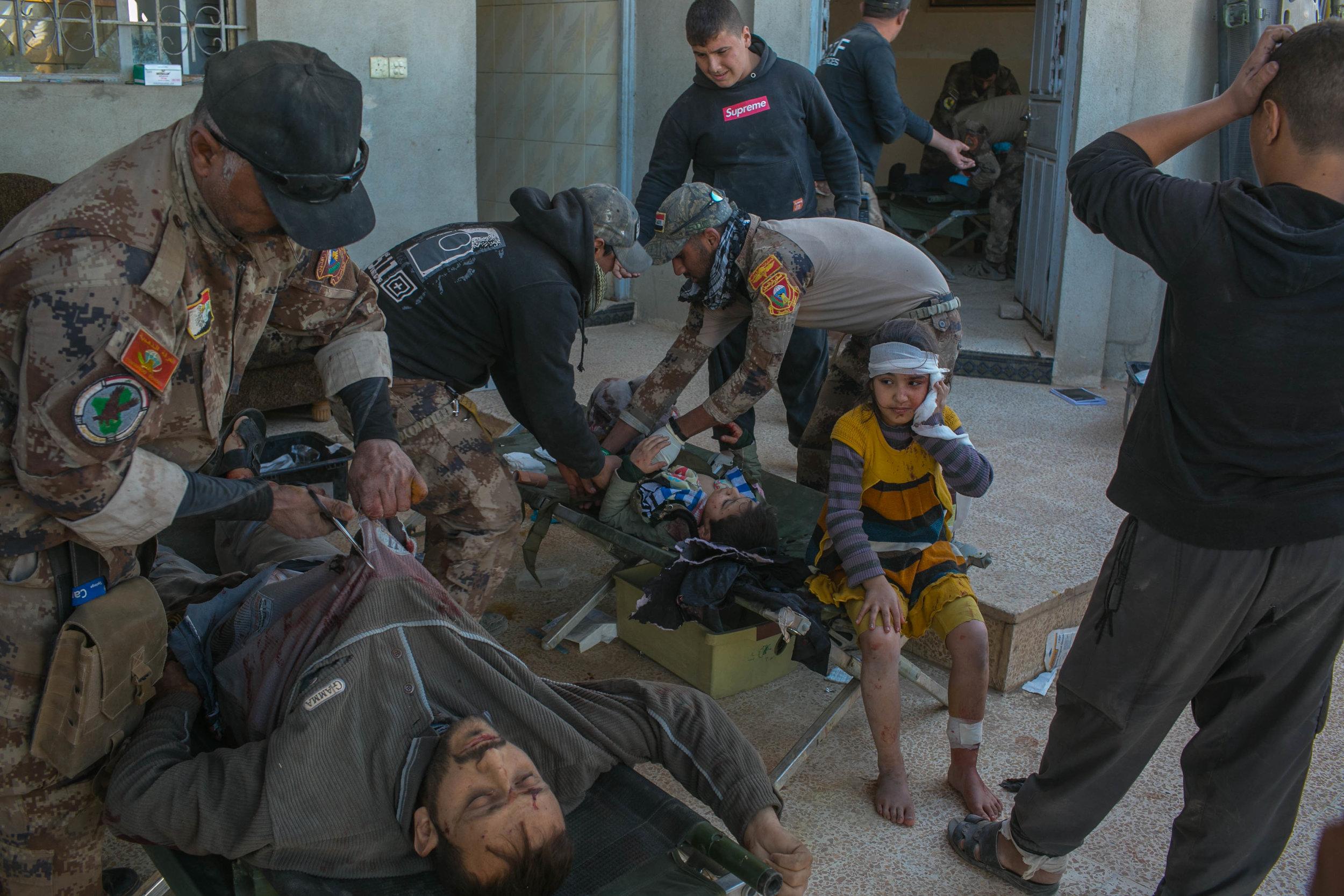 Hospital de campo em Mossul é retrato vivo do horror da guerra no Iraque