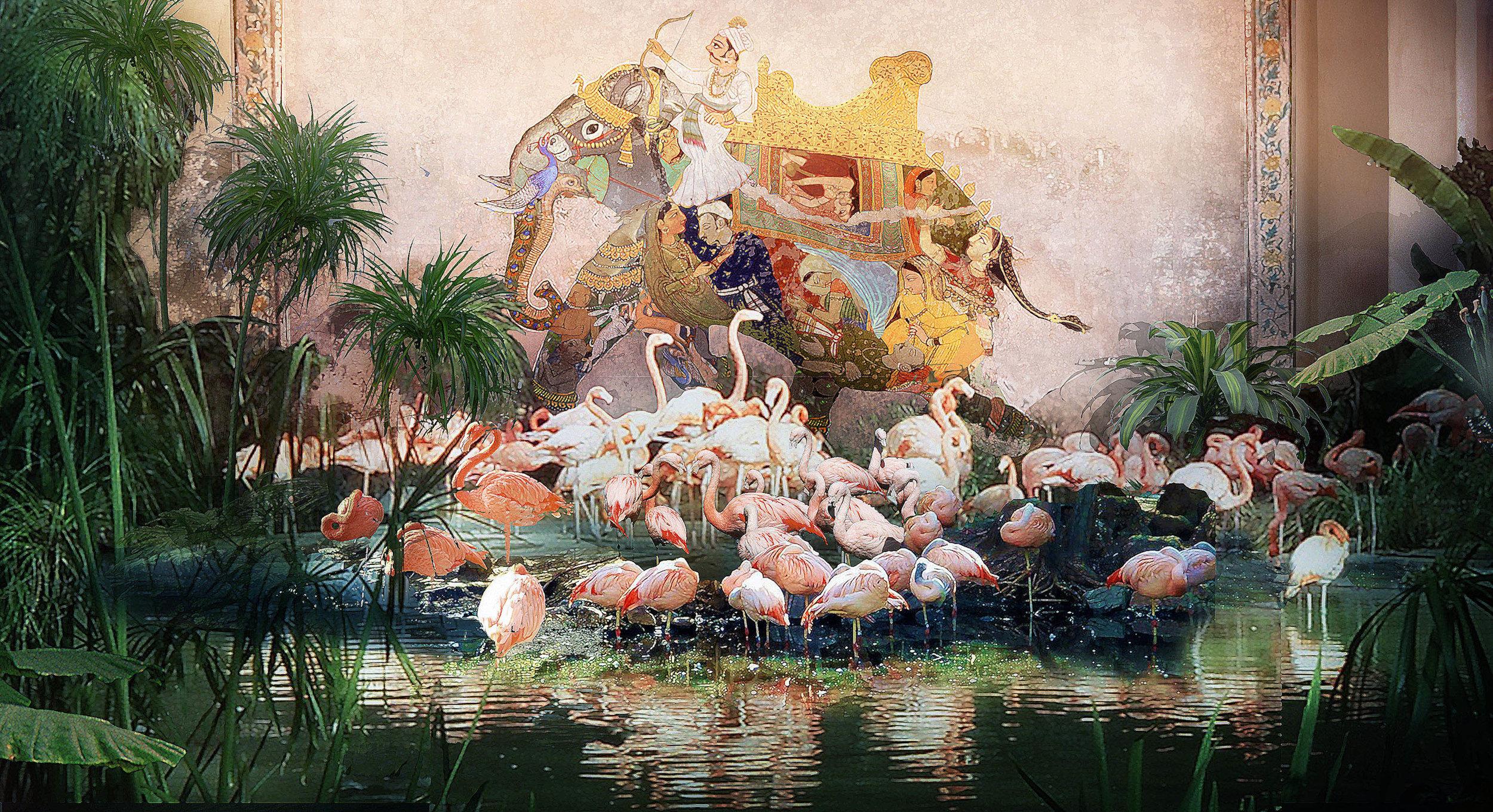 Illustration of Flamingo Exhibit