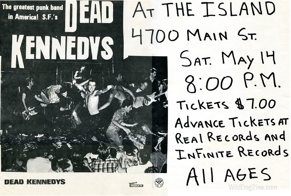 FLYER DESIGNED BY TOM BUNCH; COURTESY OF   WILD DOG ARCHIVES  .