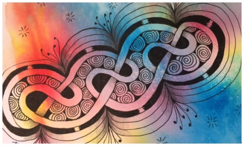 Zentangle, Doodle, Fescu, Printemps