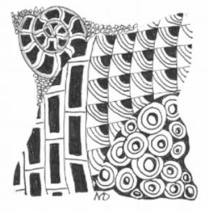 Zentangle, Doodling, Printemps, Beelight