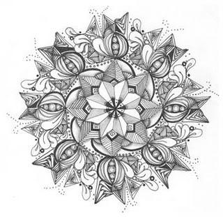 Drawn by Zentangle founder Maria Thomas