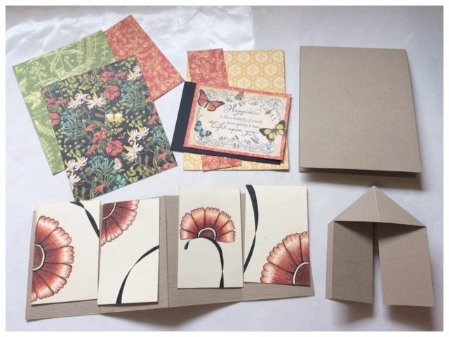 Collect all the parts of the card and prepare to assemble ......