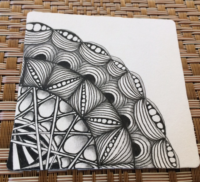Finished friendship tile