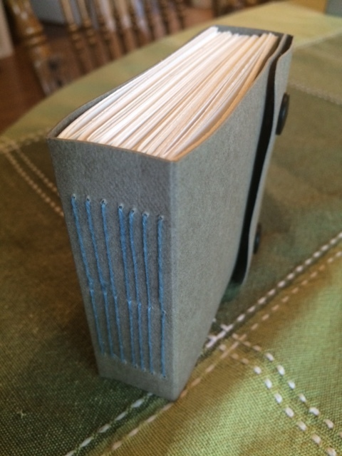 I created little handmade book with 100 pages for my Zentangle drawing.