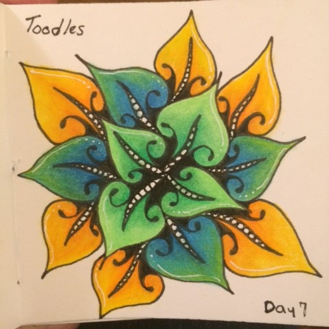 A tangle from the 100 Days Project