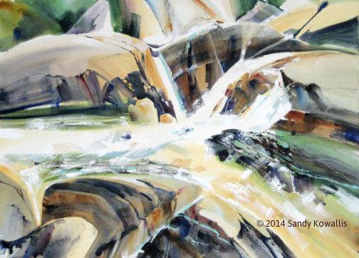 Converge - watercolor 30 x 36