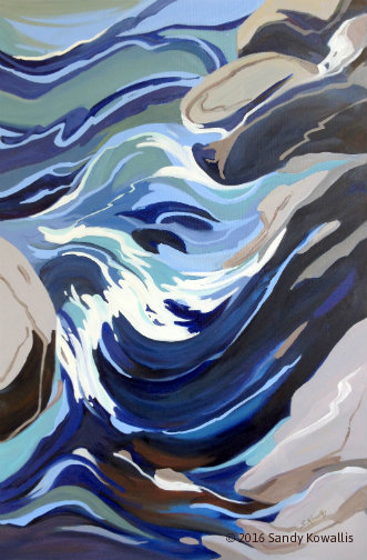 Blue Rapid - oil 24 x 36
