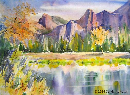 Alpine Glow - watercolor 30 x 36