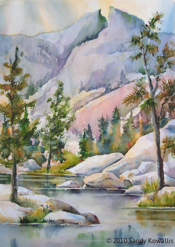 George Lake - watercolor 30 x 36