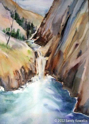 The Ravine - watercolor 33 x 39