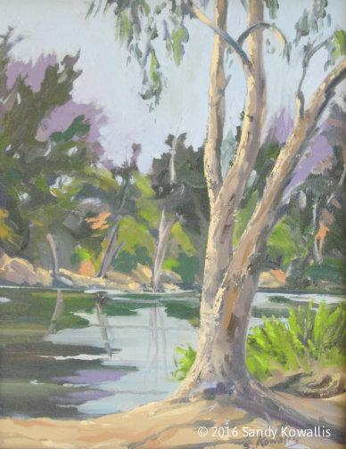 San Joaquin Blues - oil 11 x 14