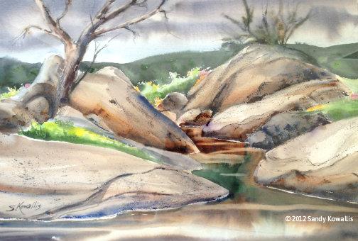 Grey Day - watercolor 22 x 28
