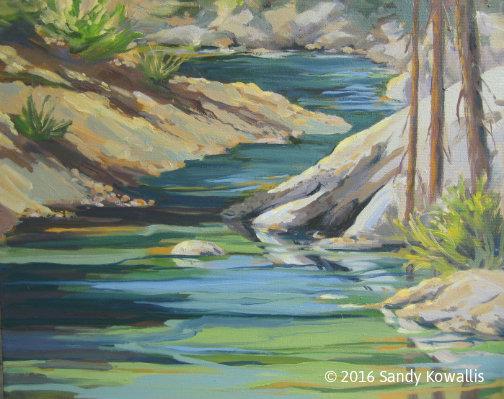 Along Big Creek - oil - 16 x 20